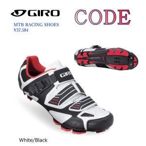 GIRO 自転車シューズ<MTB RACING SHOES>CODE◆White/Black 旧モデ...