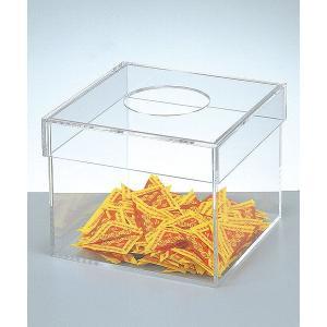 抽選箱 アクリル 25cm角横長 蓋付|epkyoto