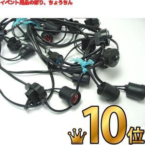 提灯用 電気コード 10灯 2m間隔 全長22m|epkyoto
