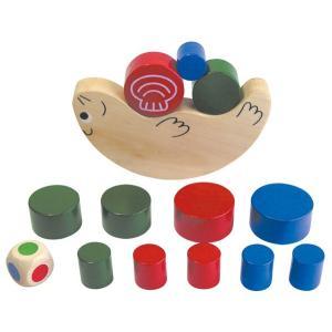 木のおもちゃ バランス積み木 ラッコ|epkyoto