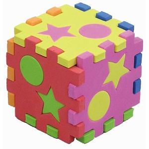 パズルとブロック、両方楽しめます! 水にぬらすとタイルにくっつくEVA素材なので、お風呂でも遊べます...