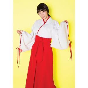 一度は着てみたい、真っ赤な袴が凛々しい巫女さんのコスチュームです。 【仕様】 上着:脇リボン、袴風ス...