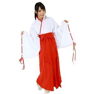 一度は着てみたい、真っ赤な袴(袴風スカート)が凛々しい巫女さんのコスチュームです。 和装は難しいと思...