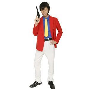 赤いジャケットの大泥棒に変身! シャツ付きジャケットとネクタイ、パンツとベルトまで付いた本格仕様で、...