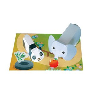 ペーパークラフト ゾウ&パンダ|epkyoto