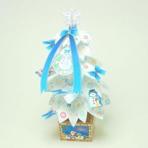 ペーパークラフト ホワイトクリスマスツリー|epkyoto