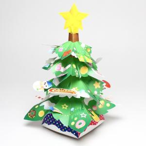ペーパークラフト(型抜き) グリーンクリスマスツリー|epkyoto