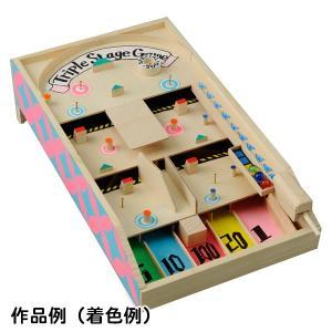 木工工作おもちゃ 3段コリントゲーム