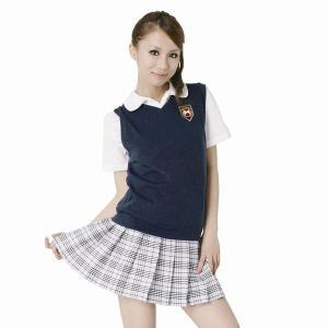 女子高生のコスプレ ベスト紺|epshop