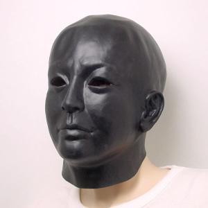 リアルゴムマスク 黒塗り|epshop