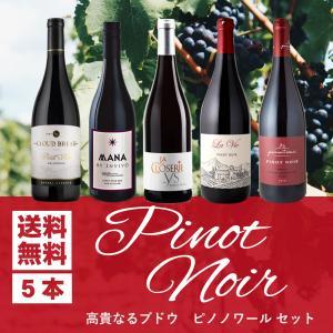 ワインセット 赤  高貴なるブドウ ピノ ノワールだけ 飲み比べ5本セット ブルゴーニュ金賞ワイン入...