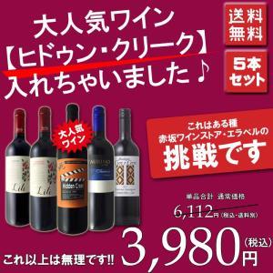 ワインセット 赤 人気のヒドゥンクリークが入った美味しいデイリーワイン カベルネ メルロー ジンファンデル シラー等 採算度外視 5本セット wineset erabell-wine 02
