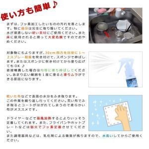 防汚コート剤 フッ素革命11ライト(30ml)スポンジ・クロスセット|erande|05