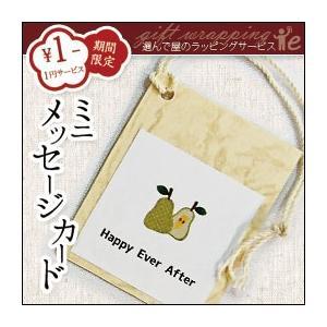 ミニメッセージカード:小さな小さなメッセージカードを商品に同梱してお贈りいたします|erande