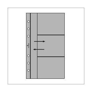 ASHFORD バイブルサイズシステム手帳用リフィル カードホルダー サイド