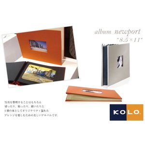 KOLO デザインフォトアルバム newport ニューポート 8.5×11サイズ アルバム|erfolg