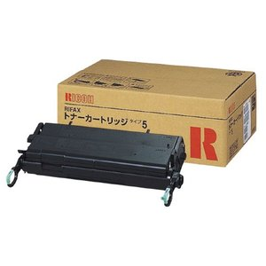 リコー リコー対応ファクシミリトナーカートリッジ RIFAXトナーカートリッジタイプ5 黒 614605 (1個)|erfolg