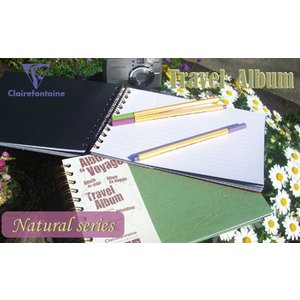 Clairefontaine  ナチュラルシリーズ トラベルアルバム A5(クレールフォンテーヌ)|erfolg