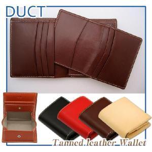 DUCT 牛革スムース カードケース付き二つ折り財布 NL-113|erfolg
