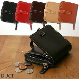 DUCT 牛革スムース ベルト付き二つ折り財布 NL-114|erfolg