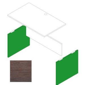 Garage デスク部材 木製パソコンデスクAF用脚 奥行70cm用 AF-K07 濃木目 (ガラージ/ガレージ/オフィス家具/SOHO)|erfolg