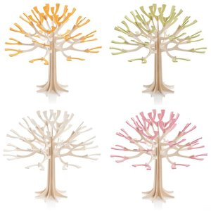 Lovi グリーティングカード シーズンツリー 11.5cm ホワイト/チェリーピンク/ペールグリーン/イエロー (メッセージカード かわいい)|erfolg