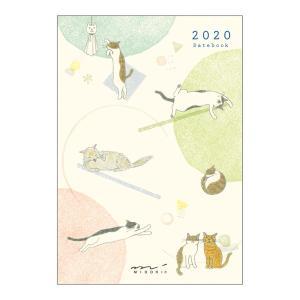 【在庫限り特価】《月間》MIDORI (ミドリ) 2020年 手帳 ポケットダイアリー<ミニ> ネコ柄 27778006|erfolg