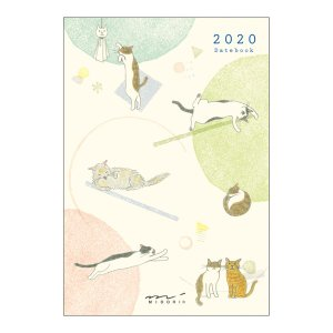 【20%OFF】《月間》MIDORI (ミドリ) 2020年 手帳 ポケットダイアリー<ミニ> ネコ柄 27778006|erfolg