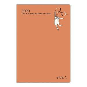 【20%OFF】《月間》MIDORI (ミドリ) 2020年 手帳 ポケットダイアリー<ミニ> オジサン柄 27779006|erfolg