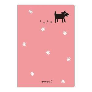 【20%OFF】《月間》MIDORI (ミドリ) 2020年 手帳 ポケットダイアリー<ミニ> 黒いイヌ柄 27783006|erfolg