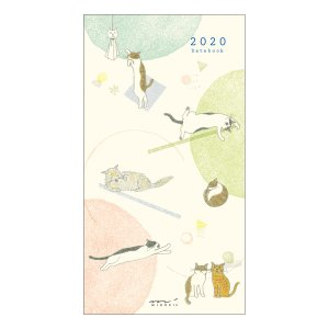【20%OFF】《月間》MIDORI (ミドリ) 2020年 手帳 ポケットダイアリー<スリム> ネコ柄 27786006|erfolg