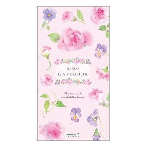 【在庫限り特価】《月間》MIDORI (ミドリ) 2020年 手帳 ポケットダイアリー<スリム> カントリータイム 花柄 27789006|erfolg