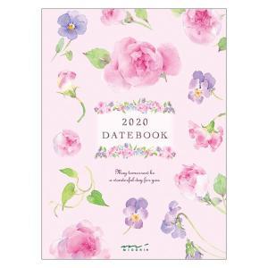 【在庫限り特価】《週間》MIDORI (ミドリ) 2020年 手帳 ポケットダイアリー<A6> カントリータイム 花柄 27798006|erfolg