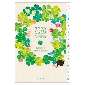 【在庫限り特価】《週間》MIDORI (ミドリ) 2020年 手帳 ポケットダイアリー<B6> クローバー柄 27811006 erfolg