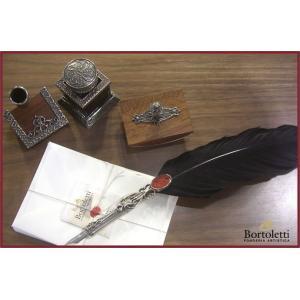 ボルトレッティ Bortoletti 羽根ペン軸 つけペン/ペン先/インク/ペンホルダー/プロッター ギフトセット SET81 erfolg