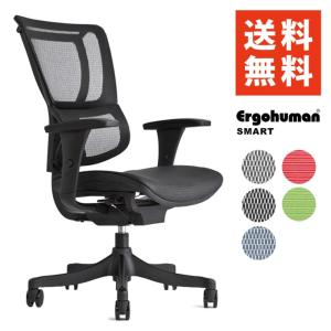 エルゴヒューマン スマート / アームレスト付  ergohuman smart エルゴヒューマン オフィスチェアー デスク|ergohuman