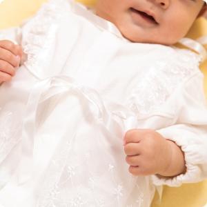 セレモニードレス 2way (ドレス・フード 2点セット) 日本製 お宮参り  男の子 女の子  新生児 赤ちゃん オールシーズン 50cm〜60cm  送料無料|erikaland-store|04