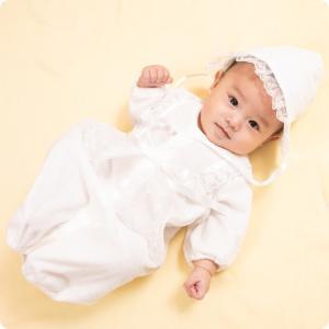 セレモニードレス 2way (ドレス・フード 2点セット) 日本製 お宮参り  男の子 女の子  新生児 赤ちゃん オールシーズン 50cm〜60cm  送料無料|erikaland-store|05