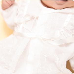 セレモニードレス 2way (ドレス・フード 2点セット) 日本製 お宮参り  男の子 女の子  新生児 赤ちゃん オールシーズン 50cm〜60cm  送料無料|erikaland-store|07
