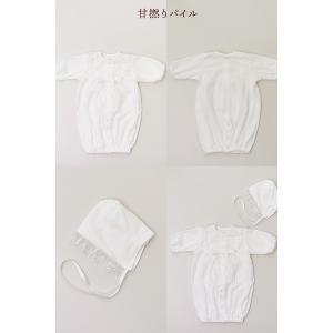 セレモニードレス 2way (ドレス・フード 2点セット) 日本製 お宮参り  男の子 女の子  新生児 赤ちゃん オールシーズン 50cm〜60cm  送料無料|erikaland-store|10