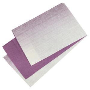 麻帯 半幅帯 No.231 細帯 小袋帯 白 薄紫 グラデーション 日本製|eriko