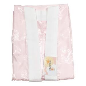 振袖用 洗える 長襦袢 ピンク Mサイズ Lサイズ 地紋入り 半衿付き 仕立て上がり 地紋おまかせ|eriko
