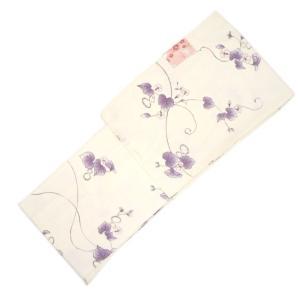 洗える着物 小紋 袷 No.5209 Sサイズ 乳白色 ひょうたん柄 eriko