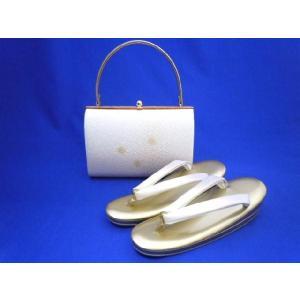 草履バッグセット No.1107 白 薄紫 23cm Mサイズ 在庫処分品|eriko