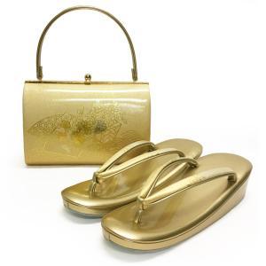 草履バッグセット No.1407 女性 LLLサイズ 3Lサイズ ゴールド 金 菊柄 梅柄 レディース 草履バック 和装 振袖 成人式 結婚式  訳あり商品|eriko