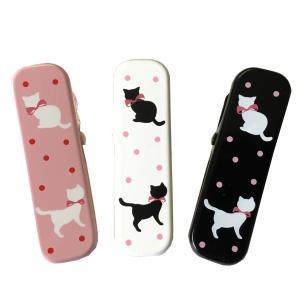 きものクリップ 3個セット No.2 ピンク 黒 白 猫柄 【POS】|eriko