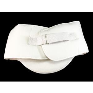 ソフトパット ベルト付き 白 No.7 腰ぶとん一体型補整具|eriko