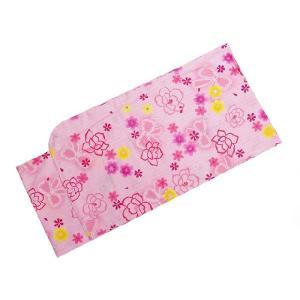 浴衣 女の子 子供 140cm No.2508 ピンク バラ リボン 在庫処分品|eriko