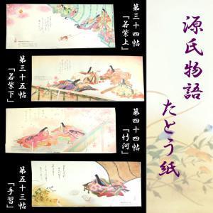 たとう紙 着物用 中紙入り 窓付き 5枚セット b 源氏物語 在庫処分品 eriko