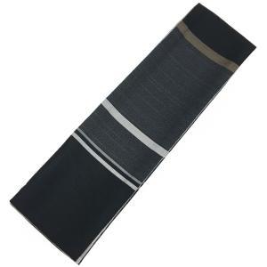 角帯 メンズ No.76 黒 チャコールグレー 絹鼠色 縞柄 市松柄|eriko